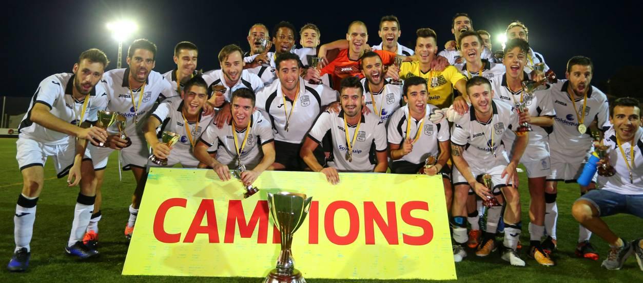 El FC Borges Blanques conquereix la Copa Catalunya Amateur en el darrer sospir