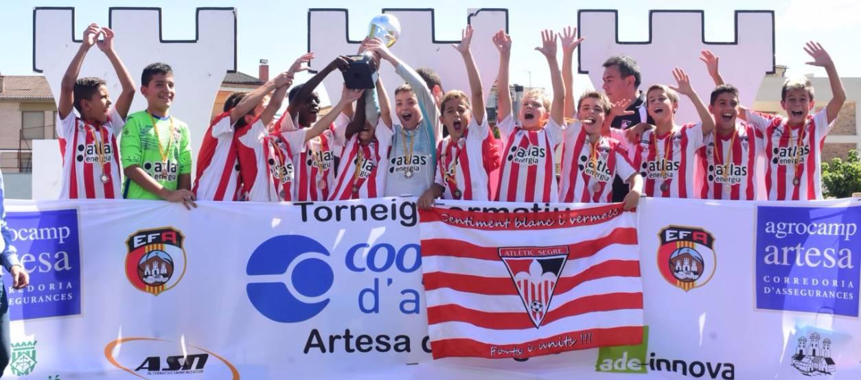 L'Atlètic Segre, guanyador del V Torneig de Futbol Formatiu Artesa de Segre