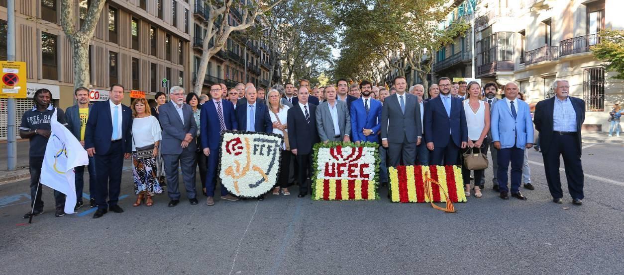 L'FCF assisteix als actes de la Diada