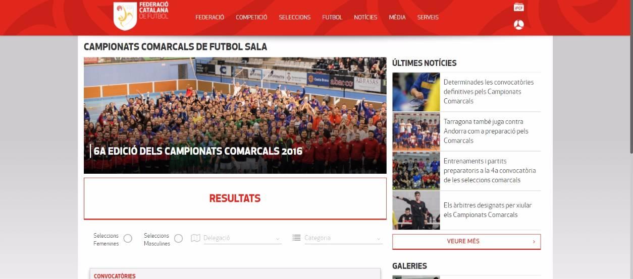 Els resultats dels Campionats Comarcals a l'apartat específic del web