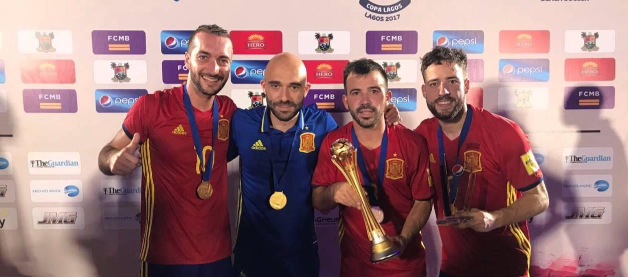 Llorenç Gómez, Eduard Suárez i Adrián Frutos, campions de la Copa Lagos 2017