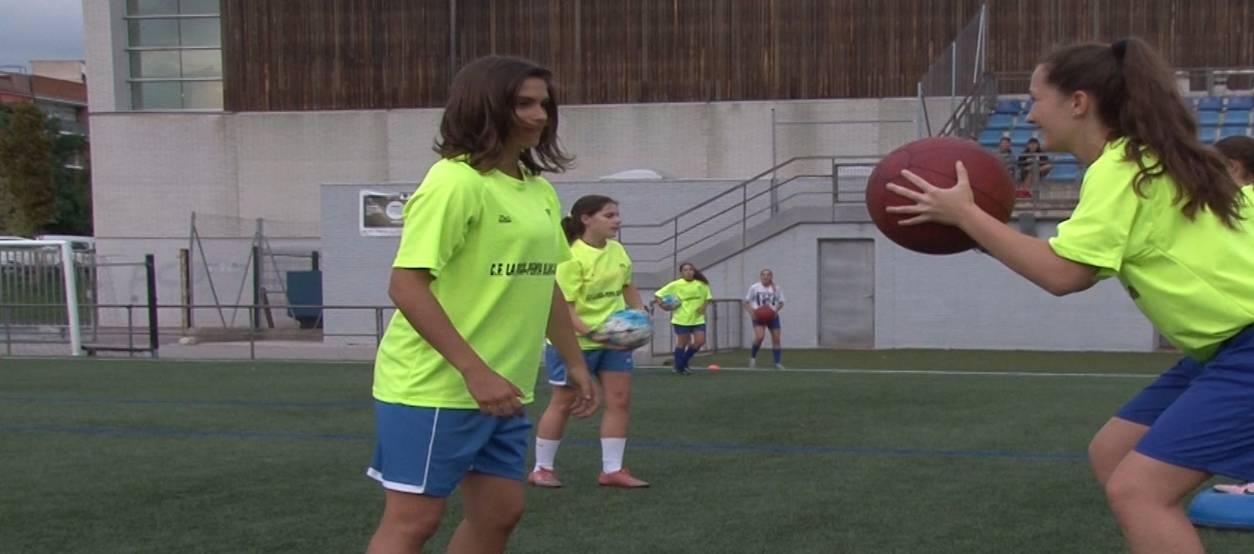 El CF La Roca Penya Blanc Blava, dedicació i treball pel futbol femení