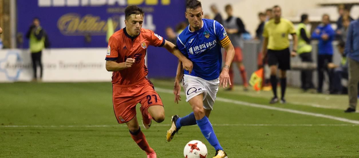 Derrota ajustada del Lleida Esportiu davant la Reial Societat a la Copa del Rei
