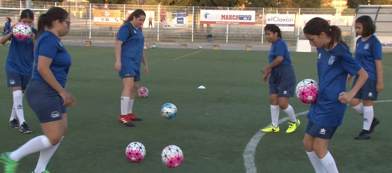 La UD Unificación Bellvitge, un club modest que vol fer gran el futbol femení