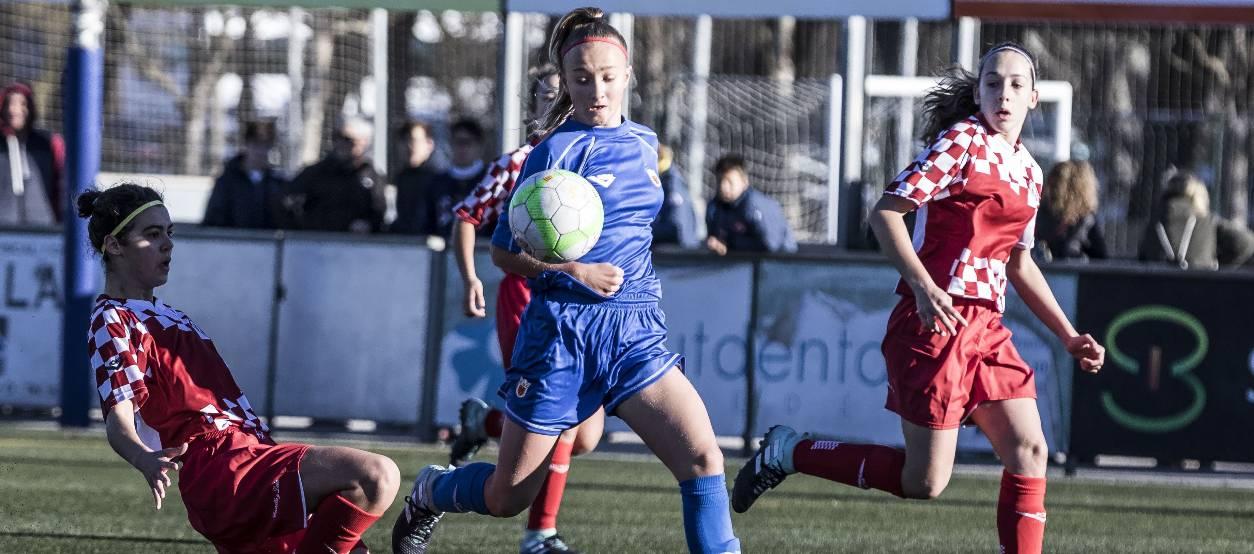 Empat vibrant entre Castella i Lleó i Navarra sub 16 femenines
