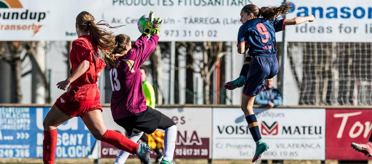Contundent victòria de la sub 16 femenina davant Navarra