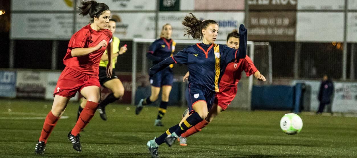 Treballada victòria de la sub 18 femenina davant Navarra
