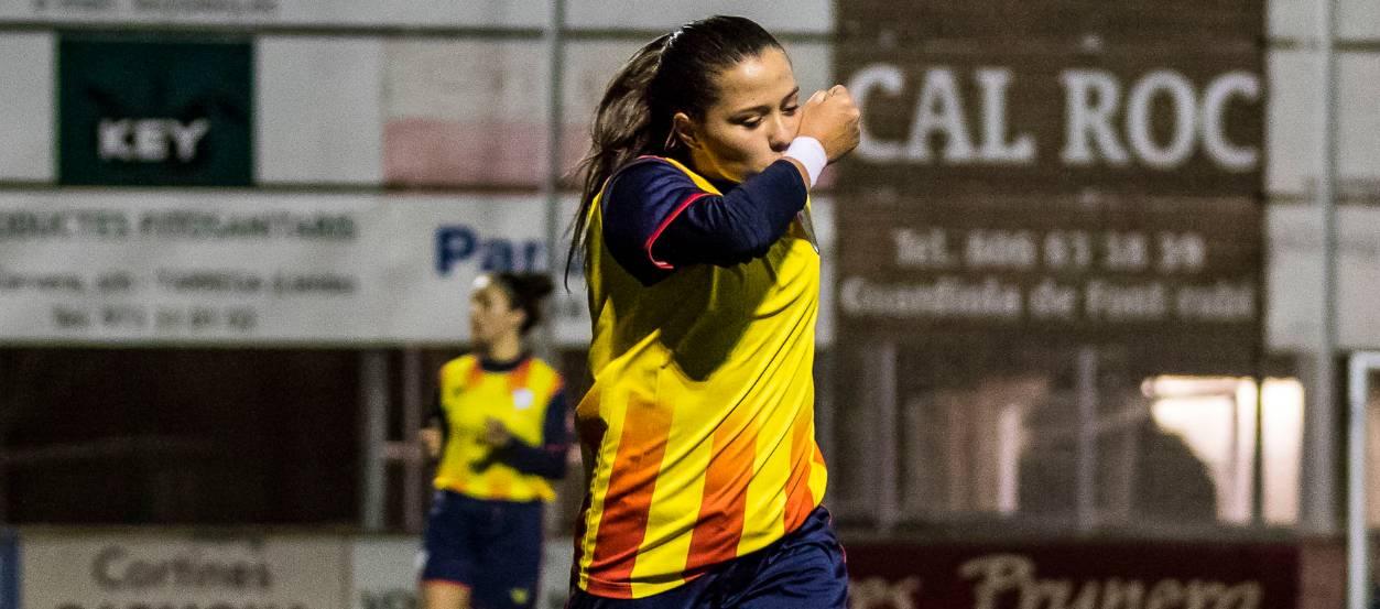 La catalana Clàudia Pina, màxima golejadora de la UEFA amb 16 gols