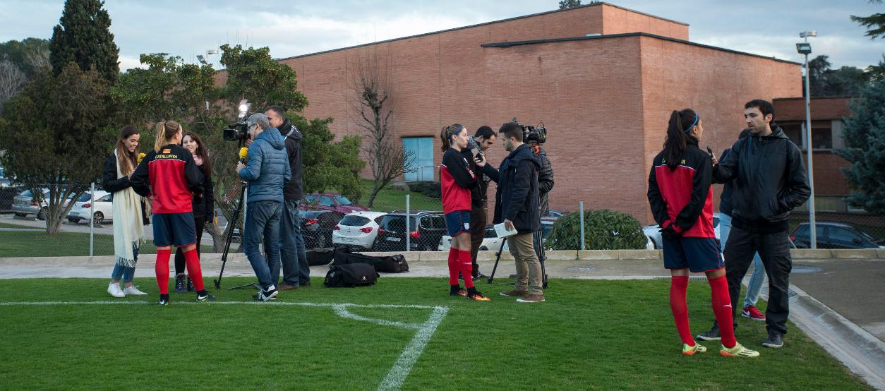 Entrenament i Media Day amb la Selecció Catalana Absoluta Femenina