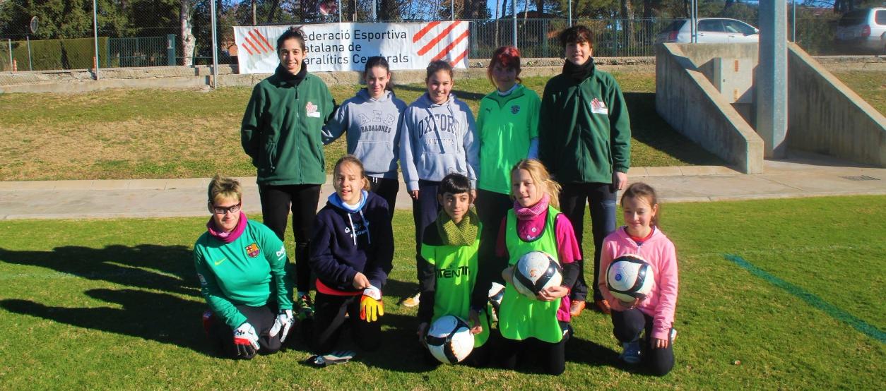 La Fundació de l'FCF col·labora en un projecte pioner de futbol femení amb paràlisi cerebral