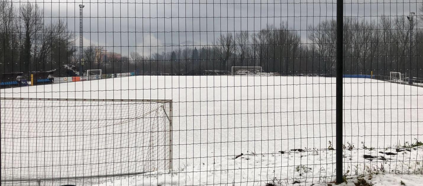 Les imatges del temporal als camps de futbol