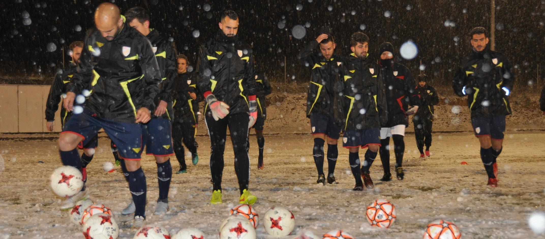La neu, gran protagonista de la concentració de la CatUEFA a Zamora