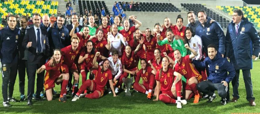 Set catalanes guanyen la Cyprus Women's Cup amb la Selecció Absoluta Femenina Espanyola