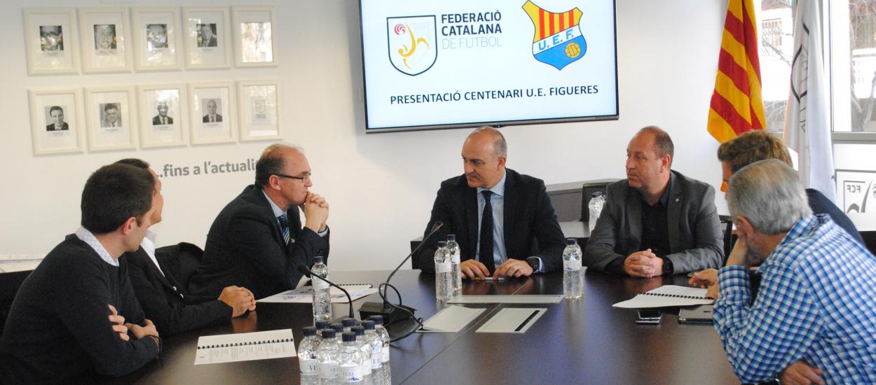 La UE Figueres presenta les activitats del seu centenari