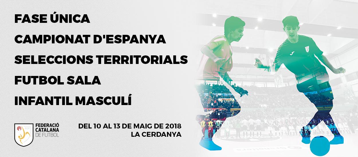 Tota la informació del Campionat Infantil masculí de Futbol Sala en un apartat específic del web