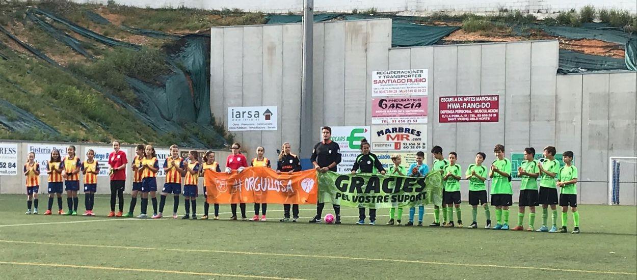 Amistós de la selecció sub 12 femenina del Baix Llobregat contra l'AE Sant Vicenç