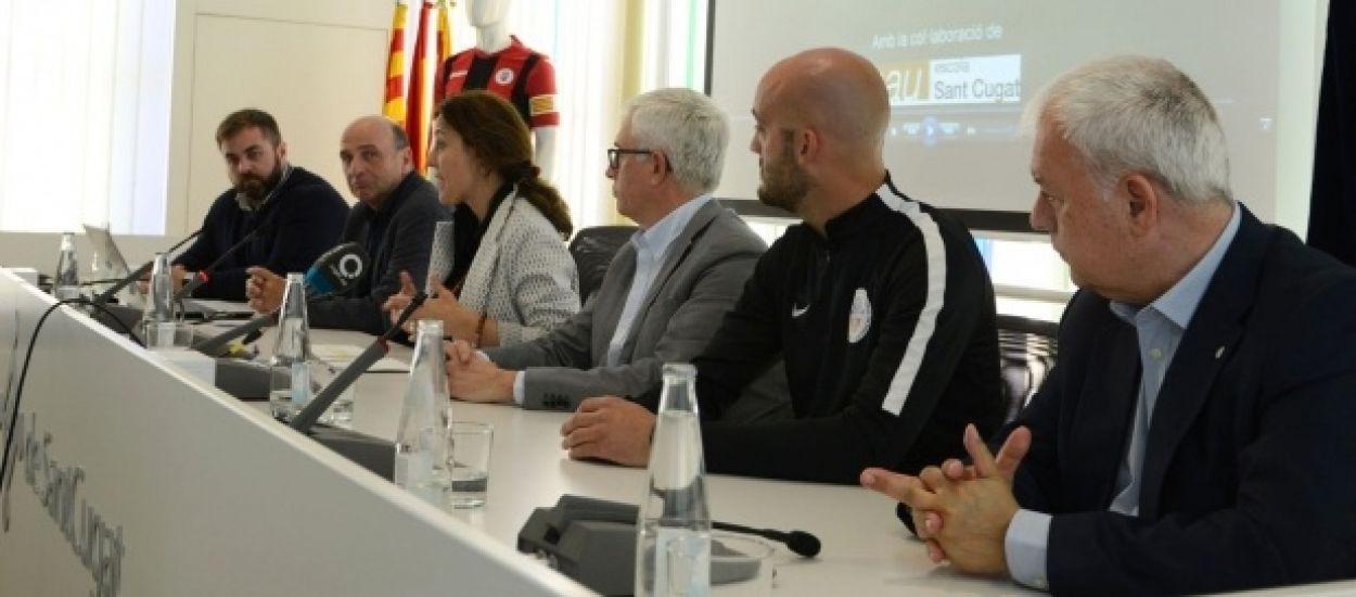 L'Escola de Futbol Sant Cugat potencia l'anglès amb la SantCu Academy