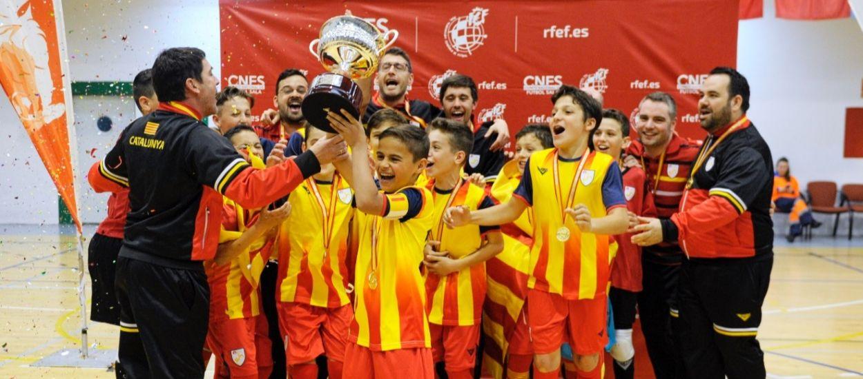 Les Seleccions Catalanes de Futbol Sala fan història assolint 4 Campionats d'Espanya