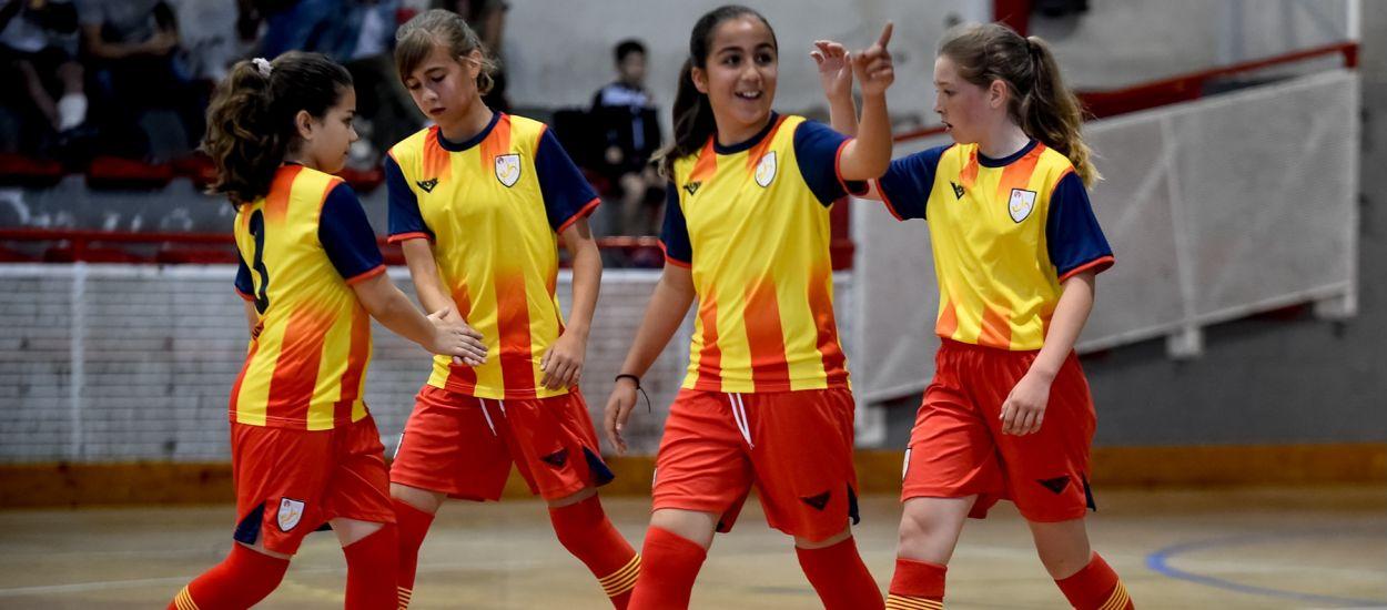 Molts gols en el debut de la Selecció Catalana Aleví Femenina de Futbol Sala