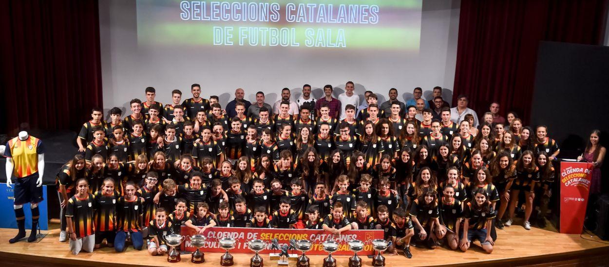La Cloenda de les Seleccions Catalanes de Futbol Sala reuneix a les 10 categories