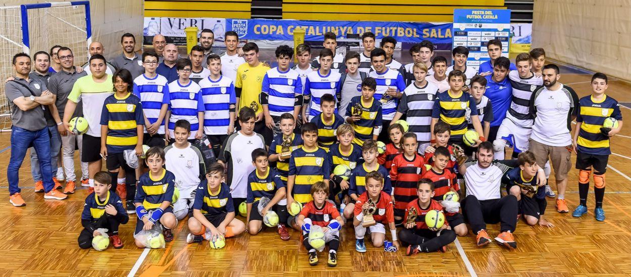 Porters d'arreu de Catalunya celebren la 7a edició del Desafiament de Porters de Futbol Sala