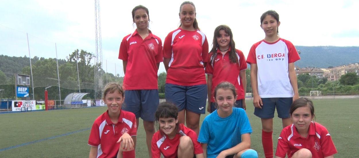 El CE Berga, un ferm defensor del futbol femení al Berguedà
