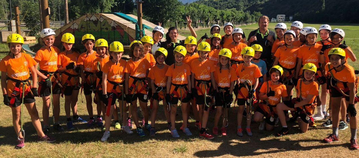Jornada de diversió i adrenalina al parc d'aventures de Rialp