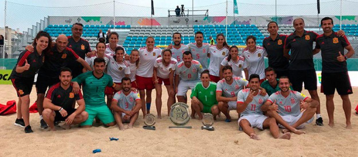 Tres catalanes es proclamen subcampiones de l'Euro Beach Soccer Cup
