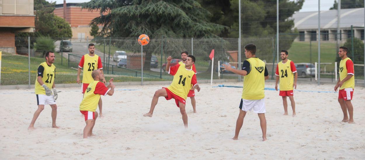 La Selecció Catalana Sènior masculina de futbol platja, a punt per competir a Guipúscoa
