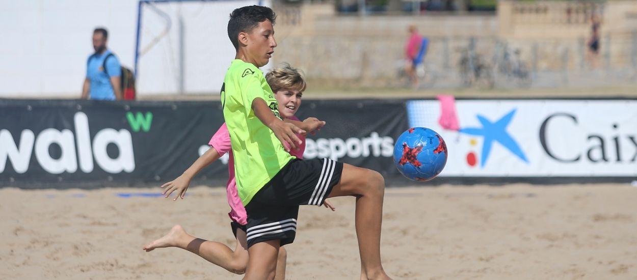 El Futbol Platja Infantil es promociona en el Campionat de Catalunya a Vilanova