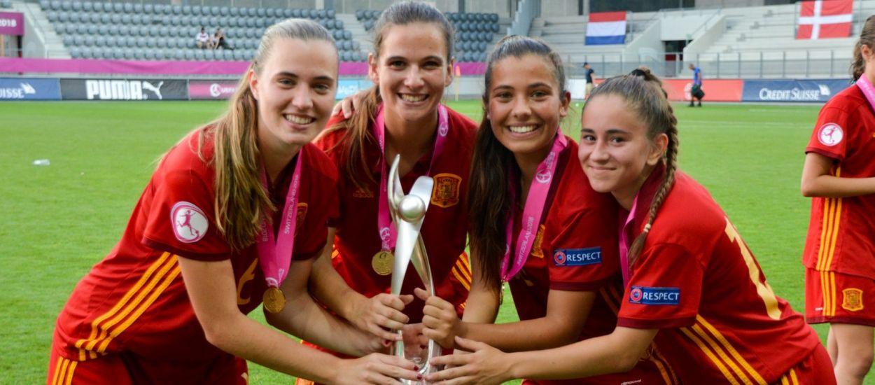 Quatre catalanes campiones d'Europa amb la selecció espanyola sub 19 femenina