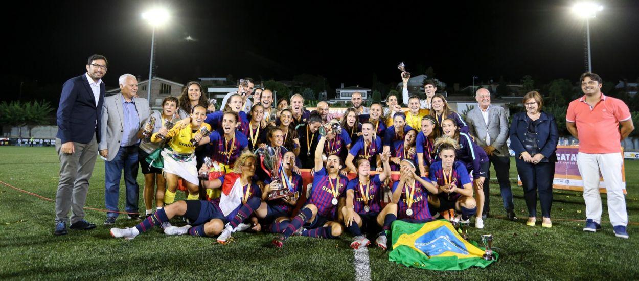 El Barça guanya la seva cinquena Copa Catalunya Femenina consecutiva