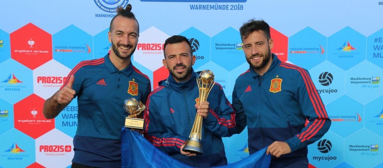 La selecció espanyola de futbol platja, líder de la lliga europea