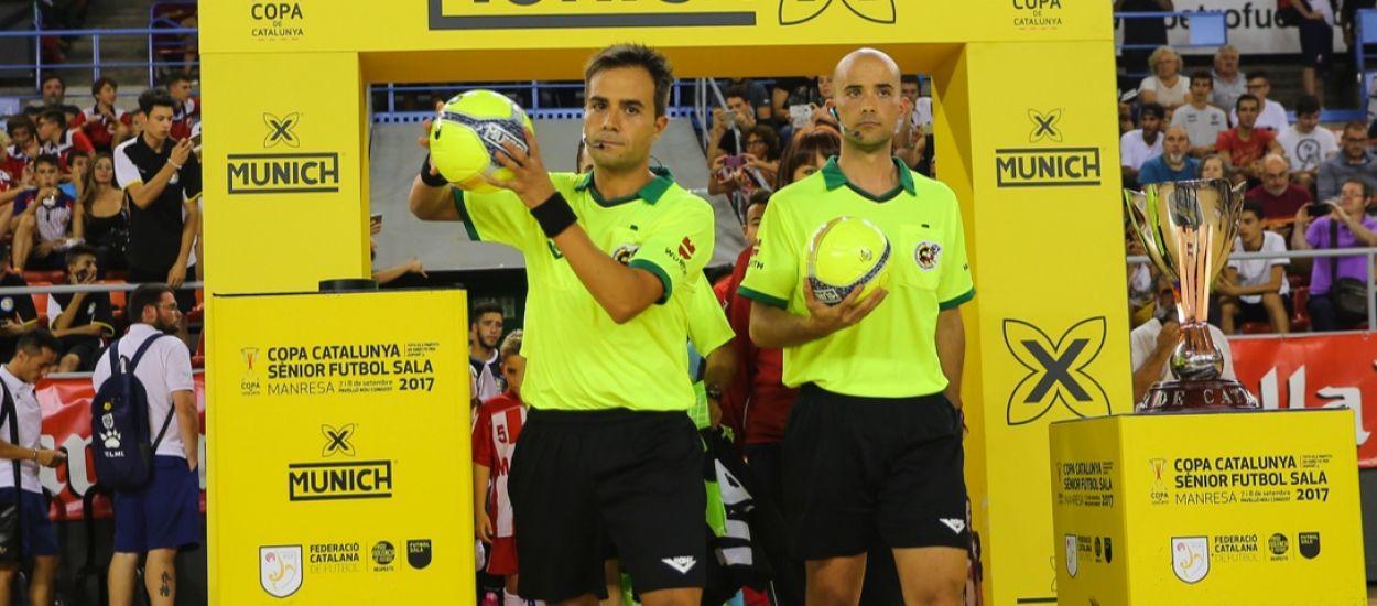 Els àrbitres que dirigiran la Copa Catalunya Sènior de Futbol Sala