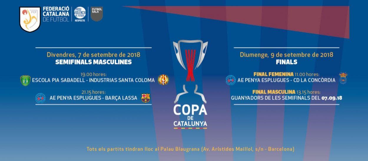 Entrades disponibles per a la Copa Catalunya Sènior de Futbol Sala