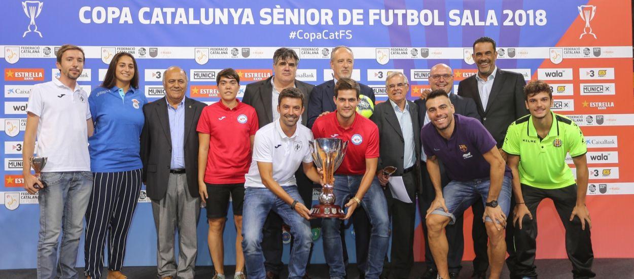 Presentació de la Copa Catalunya Sènior de Futbol Sala al Palau Blaugrana