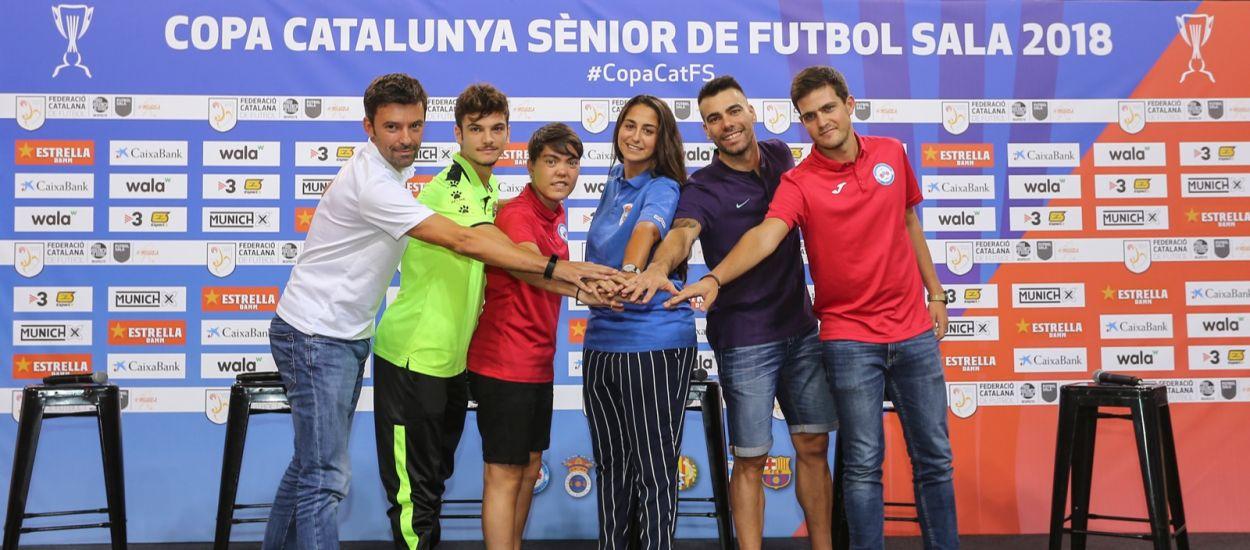 Els capitans de la Copa Catalunya Sènior de Futbol Sala