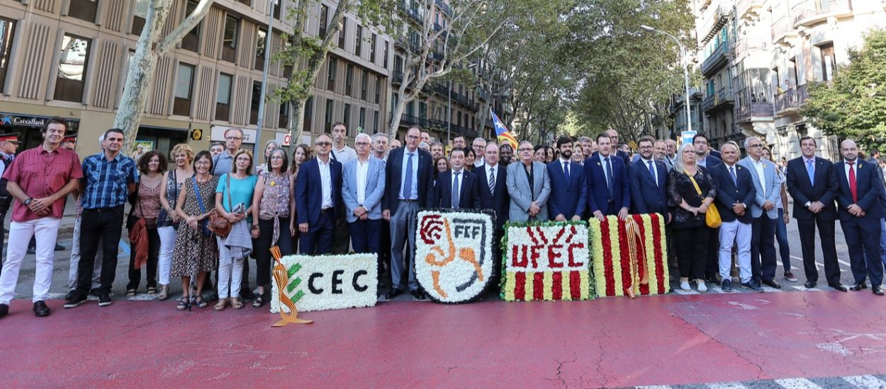 L'FCF, present en els actes institucionals de la Diada