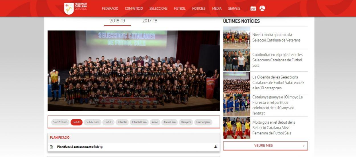 Disponible tota la informació sobre les Seleccions Catalanes de Futbol Sala