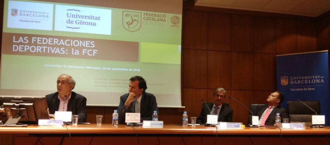L'FCF assisteix a les Jornades sobre Dret Esportiu a la Universitat de Barcelona