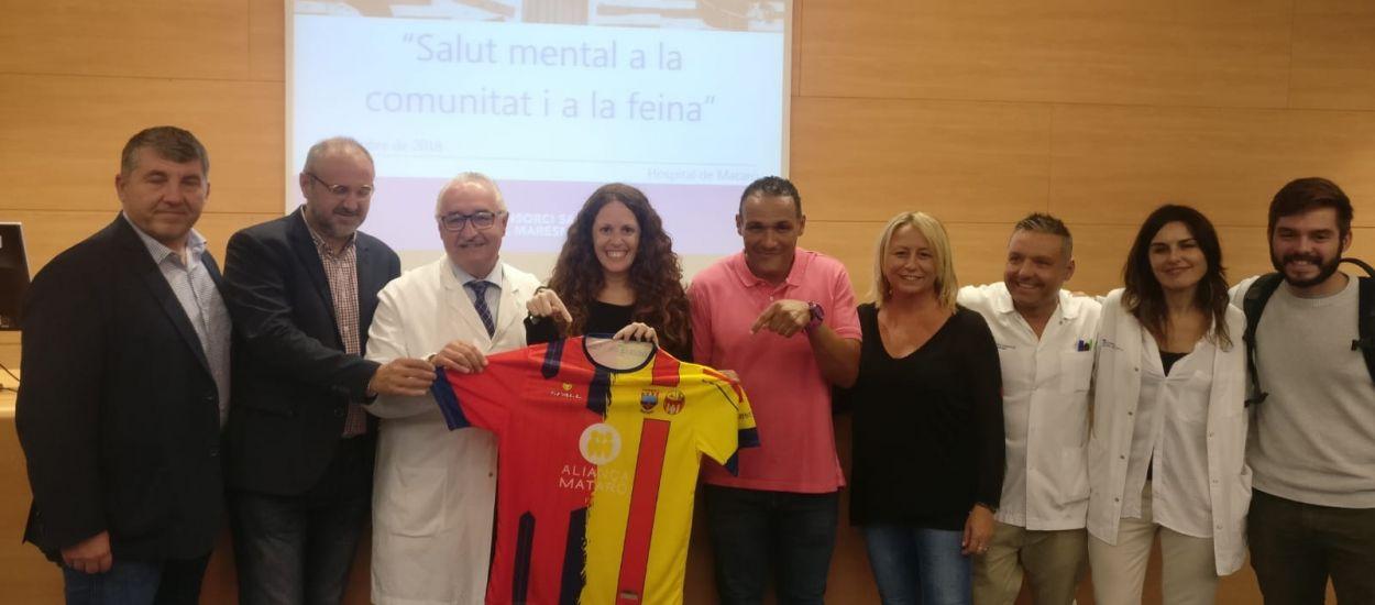 Iniciativa en el futbol sala català en el Dia Mundial de la Salut Mental
