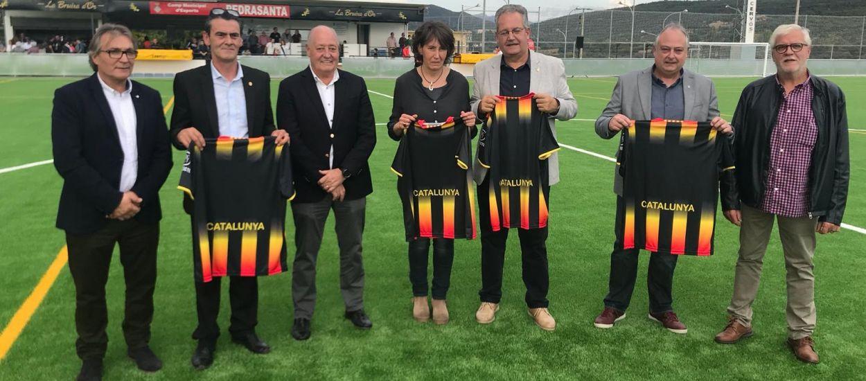 El president, present a la inauguració del nou Camp de Futbol Pedrasanta de Tremp
