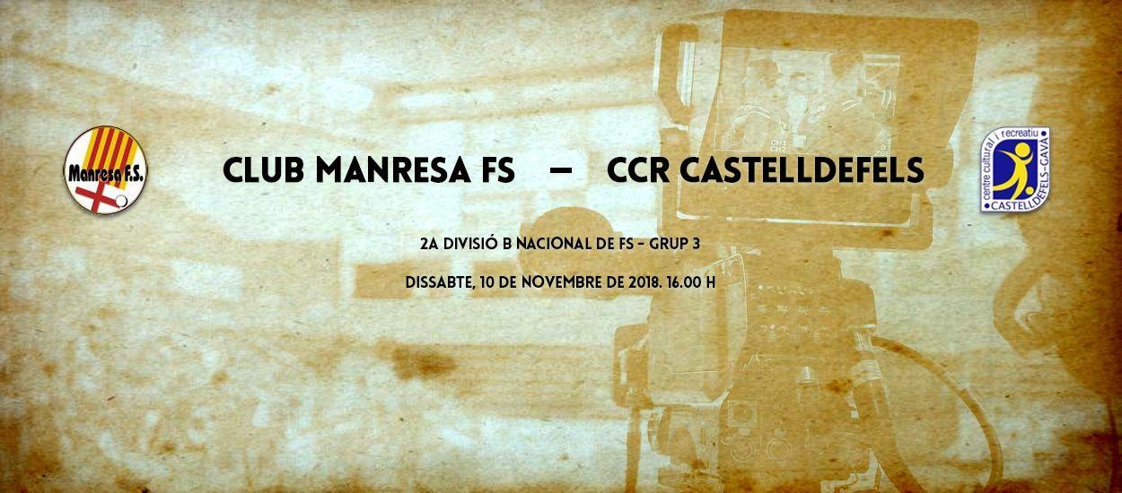 L'LCFS en directe: Club Manresa FS – CCR Castelldefels