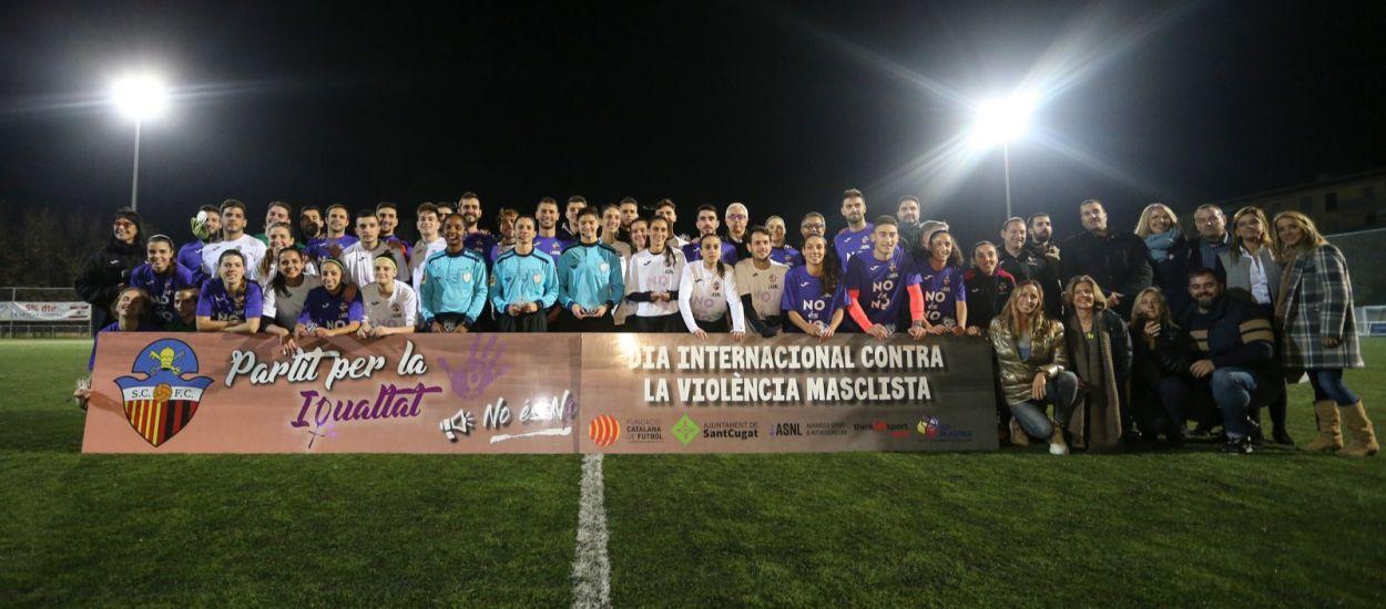 La Fundació Privada Catalana de Futbol s'uneix al Dia Internacional contra la Violència Masclista