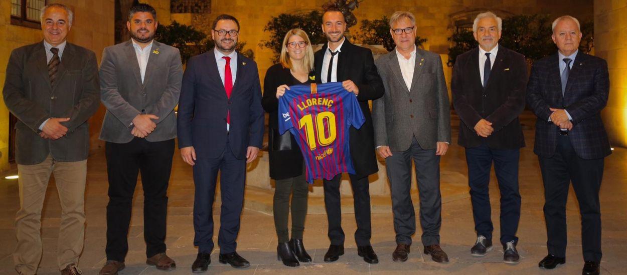 Recepció oficial de Llorenç Gómez al Palau de la Generalitat