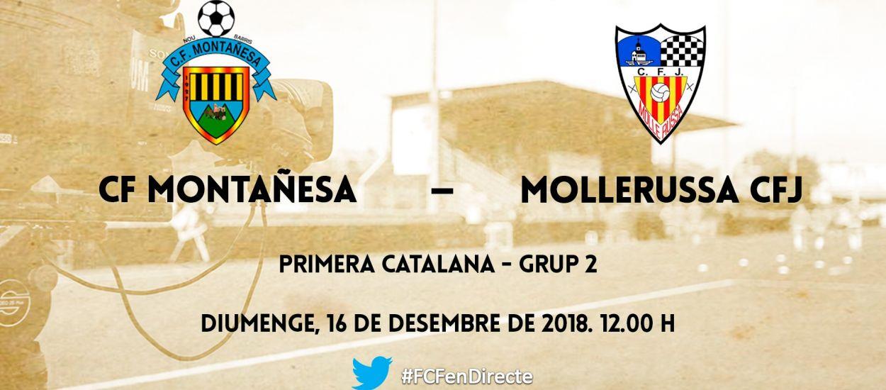 El partit entre el CF Montañesa i el CFJ Mollerussa, en directe per streaming