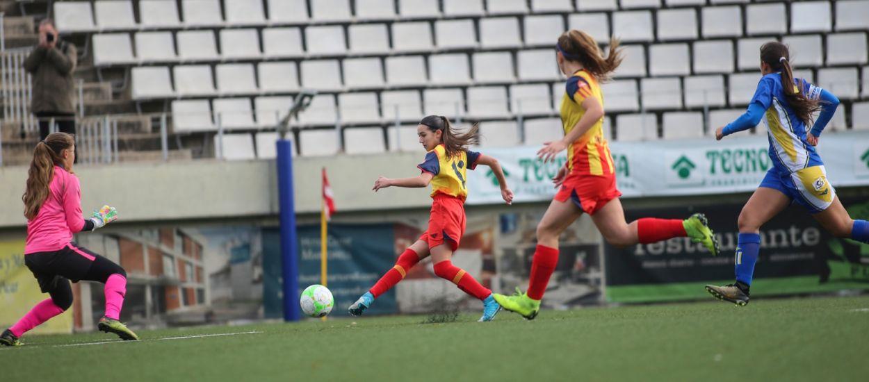 La sub 15 femenina supera amb molta autoritat les Illes Canàries