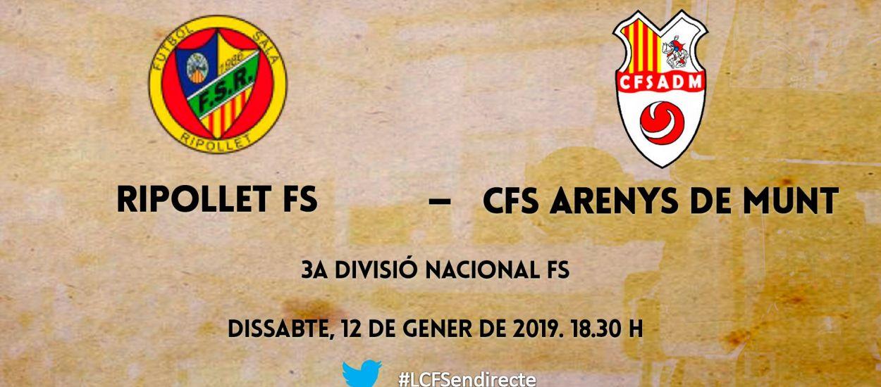 L'LCFS en directe: FS Ripollet –CFS Arenys de Munt