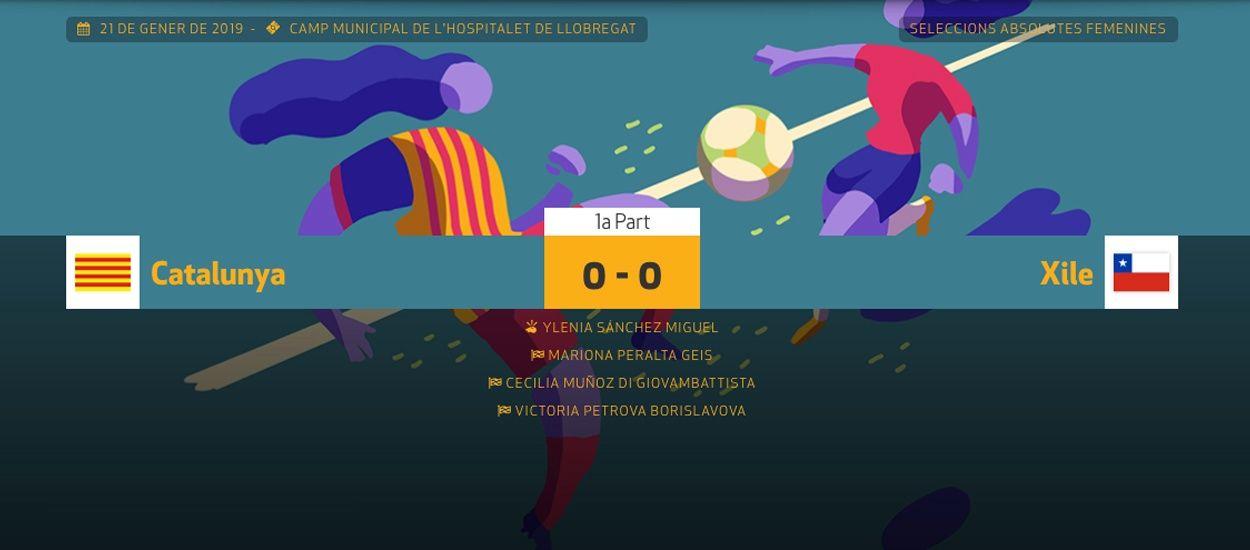 L'FCF oferirà un seguiment minut a minut del Catalunya-Xile Femení