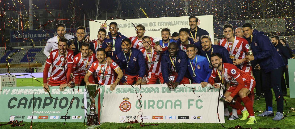 El Girona hace historia en conquistar por primera vez la Supercopa de Catalunya